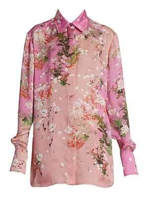 Givenchy floral silk shirt