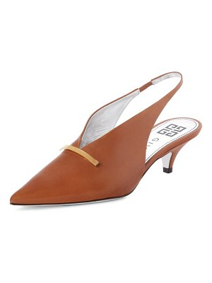 Givenchy logo bar slingback pump