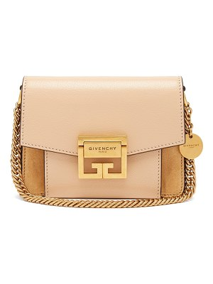 Givenchy GV3 mini suede and leather cross-body bag