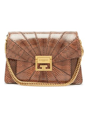 Givenchy gv3 small snakeskin cross-body bag