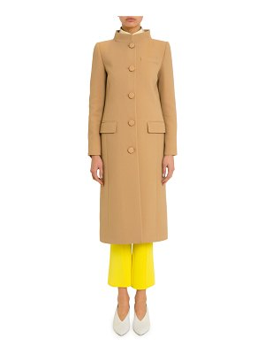 Givenchy High-Collar Button-Front Coat