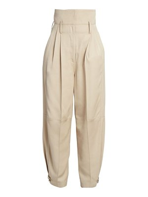 Givenchy high-rise belted wide leg pants