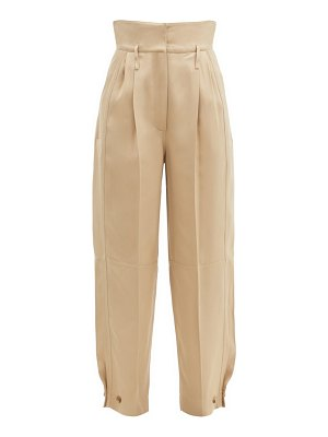 Givenchy high-rise buttoned-cuff straight-leg trousers