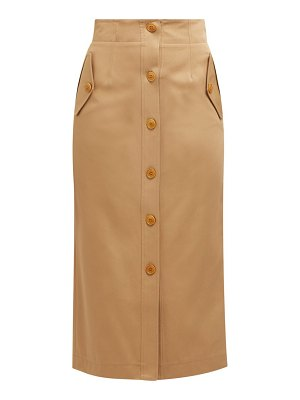 Givenchy high rise cotton gabardine skirt