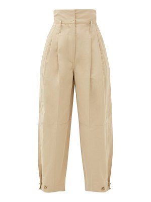 Givenchy high-rise taffeta trousers