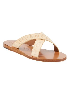 Givenchy Logo Web Crisscross Flat Sandals