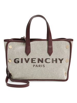 Givenchy mini bond canvas & leather crossbody bag