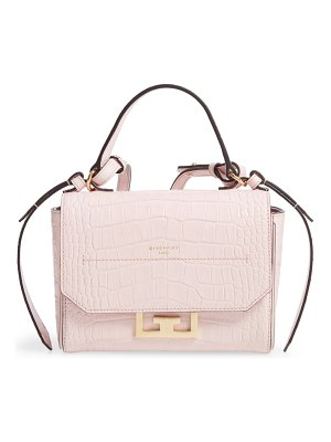 Givenchy mini eden croc embossed calfskin top handle bag