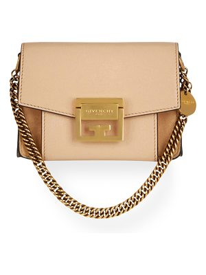 GIVENCHY Mini Gv3 Goatskin Crossbody Bag