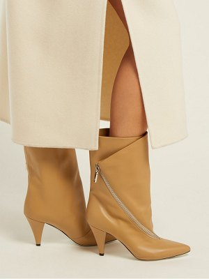 Givenchy Point Toe Calf Height Leather Boots