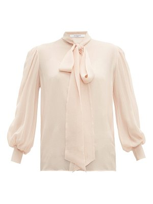 Givenchy pussy bow silk crepe blouse