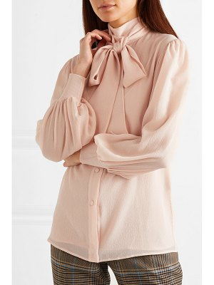 Givenchy pussy-bow silk-crepon blouse