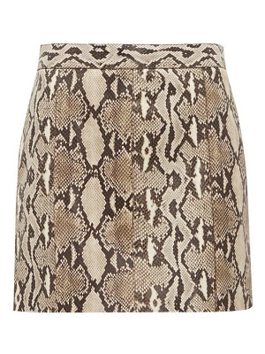 Givenchy python effect leather mini skirt