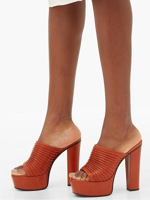 Givenchy ribbed leather platform mules