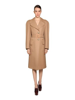 Givenchy Round shoulder double wool coat
