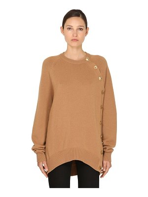 Givenchy Side button wool blend knit sweater
