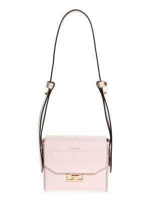 Givenchy small eden croc embossed calfskin top handle bag