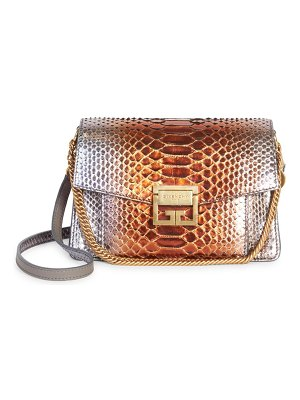 Givenchy small gv3 python shoulder bag