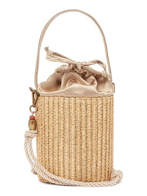 Glorinha Paranagua elba straw bucket bag