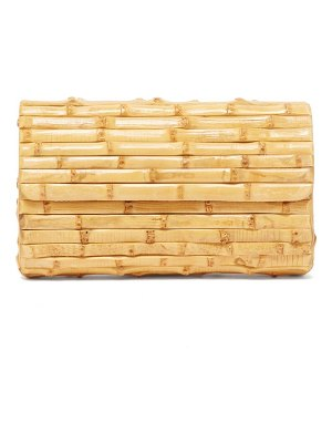 Glorinha Paranagua large bamboo clutch bag