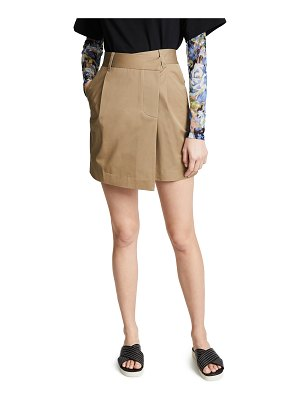 Goen.J asymmetrical mini wrap skirt