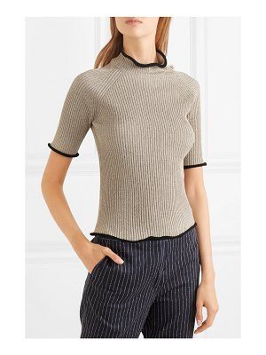 Golden Goose Deluxe Brand alya metallic ribbed-knit turtleneck top