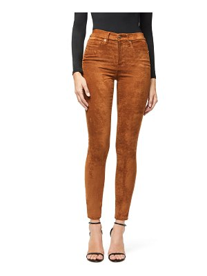 GOOD AMERICAN Good Waist Faux-Suede Jeans - Inclusive Sizing
