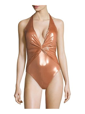 GOTTEX SWIM Tourmaline One-Piece V-Neck Swimsuit