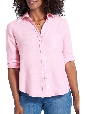 GRAYSON the hero tumbled linen shirt
