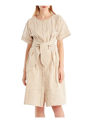 GREY JASON WU Vintage Striped Linen-Blend Dress