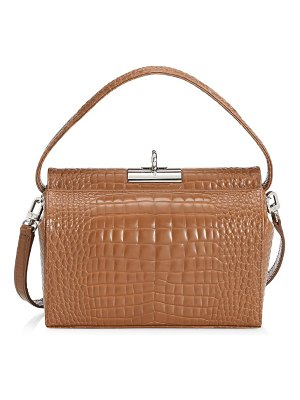 Gu de mini milky croc-embossed leather crossbody bag