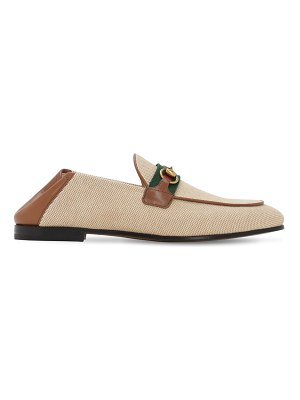 Gucci 10mm brixton cotton canvas loafers