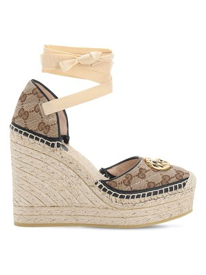 Gucci 120mm pilar quilted canvas espadrilles