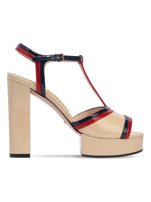 Gucci 130mm millie patent leather sandals