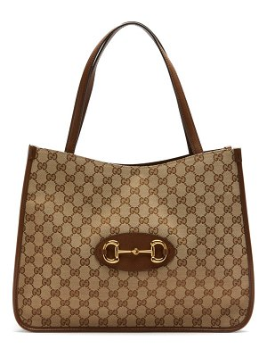 Gucci 1955 horsebit gg supreme and leather tote