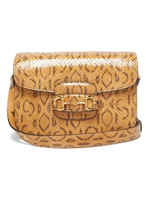 Gucci 1955 horsebit watersnake shoulder bag