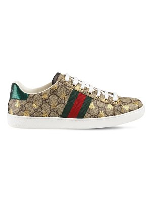 Gucci 20mm new ace gg supreme canvas sneakers