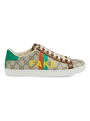 Gucci 20mm new ace printed supreme sneakers