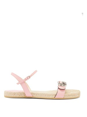 Gucci aitana leather and jute sandals