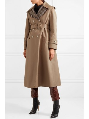 Gucci appliquéd cotton-blend gabardine trench coat