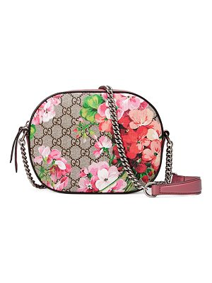 Gucci Blooms GG Supreme Mini Chain Crossbody Bag