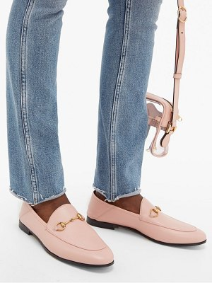 Gucci brixton collapsible heel leather loafers