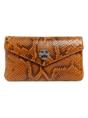 Gucci broadway genuine python envelope clutch