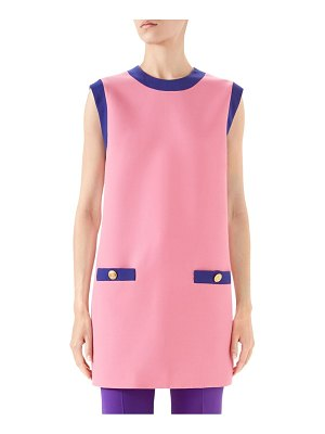 Gucci cady crepe wool colorblock tunic