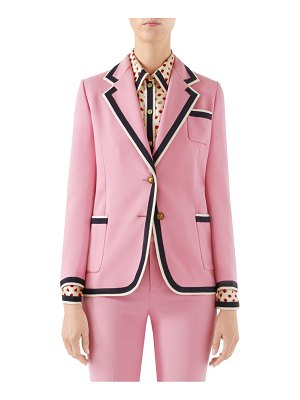 Gucci cady striped trim blazer