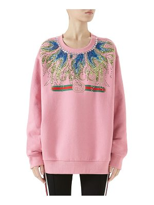Gucci crystal flame logo sweatshirt