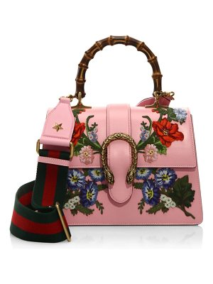 GUCCI Dionysus Embroidered Leather Top Handle Bag