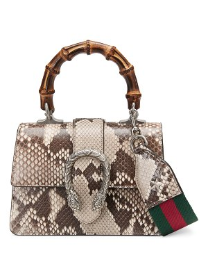 Gucci Dionysus Mini Python Bamboo-Handle Bag