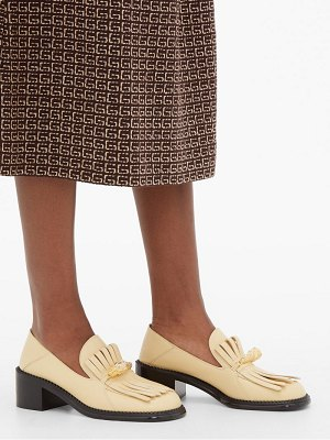 Gucci dora tiger-head fringed leather loafers