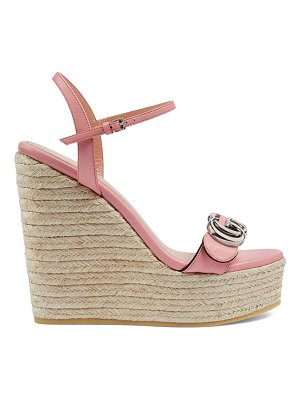 Gucci espadrille sandals with double g